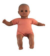 Babypuppe Puppe dunkelhäutig, Weichkörper, 30 cm NEU