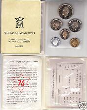 manueduc  ESPAÑA  PESETAS  Cartera Oficial  FNMT 1976 PROFF Pruebas Numismáticas