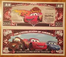 Disney Pixar Cars Million Dollar Bill