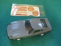 SCALEXTRIC NSCC DATSUN 260Z GREY BLACK BUMPER WITH DECAL SHEET MINT UNRUN