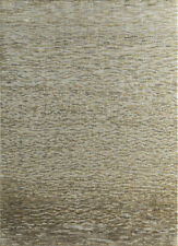 Hand Knotted Modern Ivory Colour 5X8 Feet Abstract Pattern Area Rug
