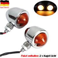 2PCS LED BLINKER KUGEL MINIBLINKER TOP NEU 12V MOTORRAD ROLLER LAMPE LICHT GELB