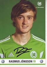 FOOTBALL carte joueur RASMUS JONSSON équipe VfL WOLFSBURG signée