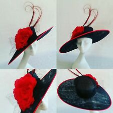 96dec422e8e2e Black and Red Wedding Hats in Women s Formal Hats for sale