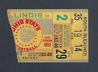 1953 NCAA ILLINOIS FIGHTING ILLINI @ OHIO STATE BUCKEYES FOOTBALL TICKET STUB