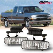 For 1999-2002 Chevy Silverado PAIR OE Factory Fit Fog Light Bumper Clear Lens