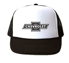 Chevrolet Logo Trucker Hat Mesh Cap Snapback Adjustable Brand New-Black
