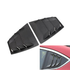 2X For Mazda 3 Axela 2015-2018 Black Rear Side Window Louvers Vent Cover Trim