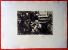 Lithographie-Henri de Groux - La cave