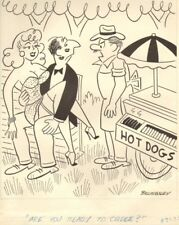 Making out with Sexy Babe at Hotdog Stand - 1961 art by Billingsley