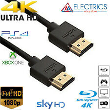 Xbox One 360 4K BLK Ultra Thin HDMI Cable 0.5m 1m 1.5m 2m 3m 4m 5m 10M Meter UK