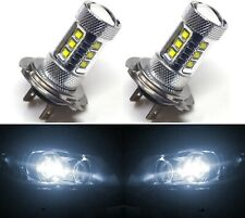 LED 80W H7 White 5000K Two Bulbs Head Light High Beam Replace Show Off Road