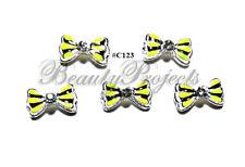 5pc Nail Art Charms 3D Nail Rhinestones Decoration Jewelry DIY Bling - C123