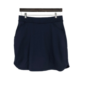 Peter Millar Womens Skirt Essential Petal Hem Skort Tennis Short Blue Medium M