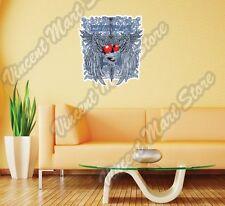 "Make Love Not War Heart Gift Idea Wall Sticker Room Interior Decor 22""X22"""