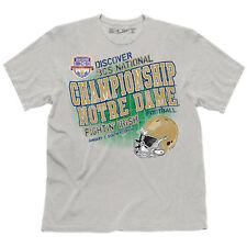 Notre Dame vs. Alabama 2013 BCS National Championship Game Large Gray Tee