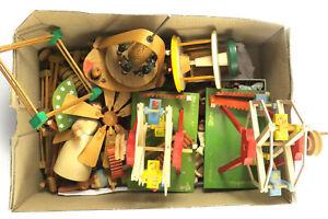 Antikes Spielzeug Konvolut Holz Riesenrad Engel Tiere Geburtstag (E3)