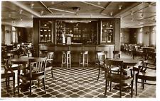 """Bateau, """"Monte Cervantes"""", bar im rauchsalon Vintage silver print, postcard pape"""