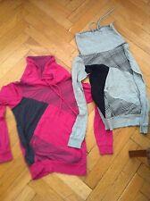 2 x Pullover Shirt Oberteil Fishbone Sport Top pink grau schwarz Gr. XS