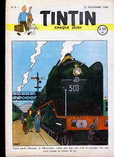 TINTIN (Edition  Belge )  n° 9   du     21  novembre  1946 - T.B.E.