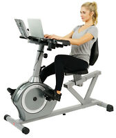 Sunny Health Fitness Recumbent Desk Cardio Exercise Bike Workstation SF-RBD4703