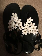 Plastic Beach Shoes Sandals Toepost Size 6