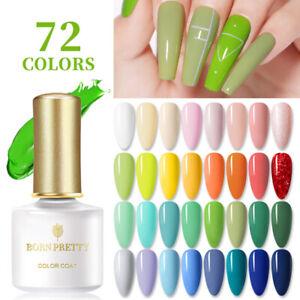 BORN PRETTY 6ml Soak Off UV Gel Polish Natural Glitter Nail Art Varnish Decor