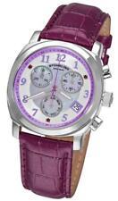 Stuhrling 246 1115Q78 Lady Fiorenza Chrono Purple Leather Womens Watch