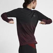 Nike Gyakusou Gradient Dri-FIT Women's Long-Sleeve Top M Black Red Shirt New