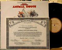 Animal House Soundtrack Vinyl LP MCA-3046 1st Press Blutarski Frat Certificate