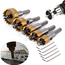 5x Hole Saw Tooth Kit HSS Steel Drill Bit Set Cutter Tool For Metal Wood Alloy