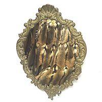 Aufwändiger massiv Messing Spiegel Engel Putten ca. 42 x 29 cm 70er Jahre
