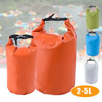 2L-5L Waterproof Pouch Camping/Dry Bag for Kayaking Canoeing Rafting Swim  //#