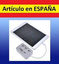 5 en 1 MULTICONECTOR puertos USB tarjeta SD memoria lightning iPad 4 mini hub