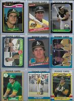 Jose Canseco A's Lot of (25) Different w/ (15) Rookies 1986 Donruss #39 NMint