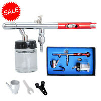 Voilamart 0.35mm Dual Action Air Brush Spray Gun Airbrush Kit Art Paint