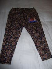 Women's NWT Beautiful Paisley  Print Ankle Length Leggings Sz2X (18W-20W)