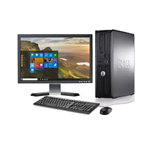 LOW PRICE!!! Fast Dell Desktop Computer PC Core 2 Duo WINDOWS 10 + LCD + KB + MS