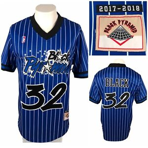 Black Pyramid Mens Large Jersey Official #32 Blue Striped 2017 2018 NWT $78