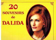 MFD IN CANADA FRENCH POP 1990s NM LP DALIDA : 20 SOUVENIRS DE DALIDA