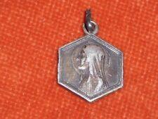 Médaille poinçon argent Sainte vierge & Bernadette in grotte LOURDES