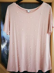 T-Shirt von Amisu rosa mit Perlen Gr. L - super Zustand