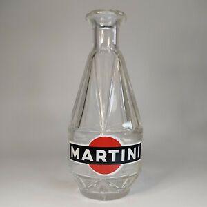 Martini - Vintage Glas Karaffe - Wasserflasche - Werbung Glasflasche - TOP
