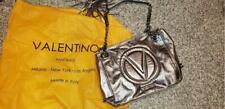 Authentic Valentino Platinum Leather Shoulder Bag Bag, Pre-owned, Nice!