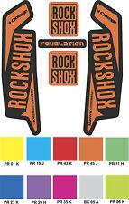 ORANGE RockShox REVELATION 2015 2016 Style Decals Stickers - Custom