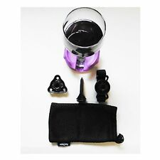 Boaters Wine Glass Holder by Bella D'Vine for Stemless & Stemmed Glasses  Purple