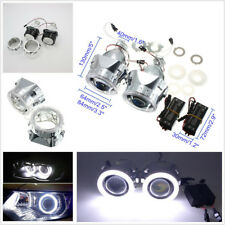2 Pcs Angel Eye 2.5''HID Bi-xenon Projector Lens Car Headlight Retrofit H1 H4 H7