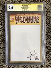 SS CGC 9.6 WOLVERINE #20 Blank Marvel VHTF RARE GERMAN signed & Sketch SAM KEITH