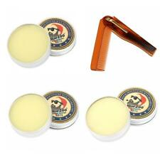 3 Scent Beard Cream Balm Oil Taming Conditioner Wax+Folding Styling Comb Kit