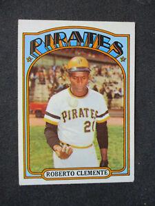 1972 Topps #309 Roberto Clemente Pirates VG+ (corner wear) CENTERED NICE P257